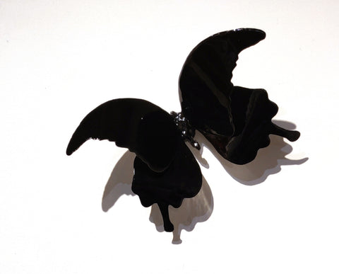 Butterflyor Moth Size 5 - Vitreous Enamel on Steel Sculpture by artist Christie Hackler