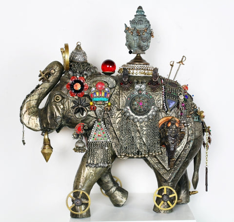 Ruby Raja - Found objects & parts Sculpture by artist John Stebila