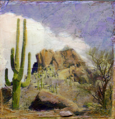 Pinnacle - Mixed Media on Panel Convergent Media by artist Judith Monroe