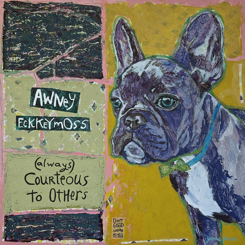 Awney Eckkeymoss - Mixed Media on Panel Collage by artist Yvonne Gaudet
