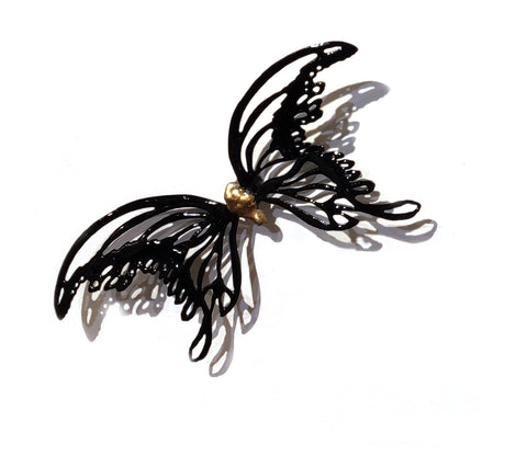 Moth (Size 4) - Vitreous Enamel on Steel Sculpture by artist Christie Hackler