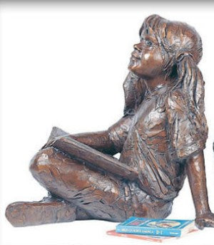 Story Time II (Girl) - Bronze Sculpture by artist Gary Lee Price