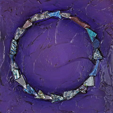 Floating Circle Series #22 - Glass and Acrylic on Aluminum Paintings by artist Christine Hausserman