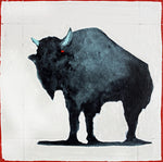 Black Buffalo I - 1733 - Acrylic /Mixed Media Paintings by artist Michael Swearngin