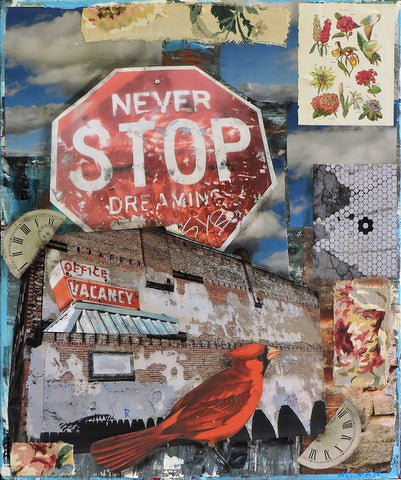 Never Stop Dreaming - Acrylic /Mixed Media Paintings by artist Dave Newman