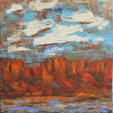 Big Mesa 2 - Acrylic Paintings by artist Dave Newman