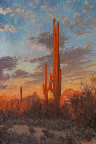 Sunset Sentinel - Oil Paintings by artist John Horejs