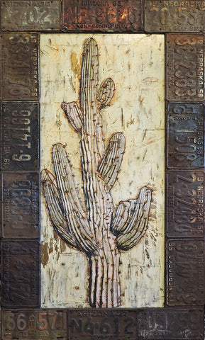 Desert Icon Series  - Acrylic /Mixed Media Collage by artist Dave Newman