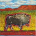 Bison Series - Acrylic /Mixed Media Collage by artist Dave Newman