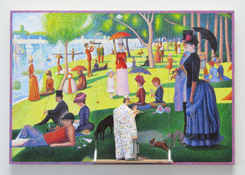 A Sunday on La Grande Jatte, 1884 (Seurat) - Acrylic/Paper Mache' Paintings by artist Stephen Hansen