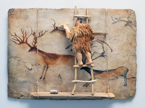 Lascaux - Acrylic/Paper Mache' Paintings by artist Stephen Hansen