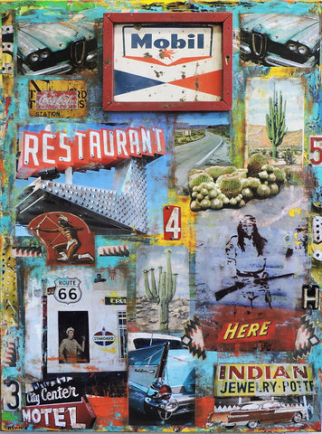 Mile Marker - Mixed Media Paintings by artist Dave Newman