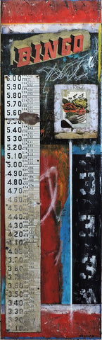 Numbers Game #1 - Mixed Media Paintings by artist Dave Newman