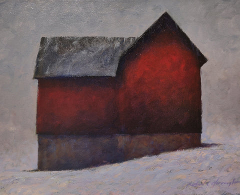 Winter Storm - Oil Paintings by artist Richard C. Harrington
