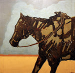 Saddled Ready-1742 - Acrylic /Mixed Media Paintings by artist Michael Swearngin