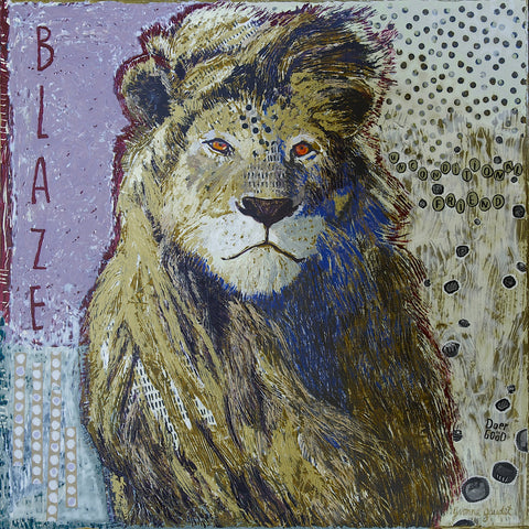 Blaze - Mixed Media on Panel Paintings by artist Yvonne Gaudet