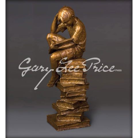 New Heights of Knowledge - The Thinker (Small) - Bronze Sculpture by artist Gary Lee Price