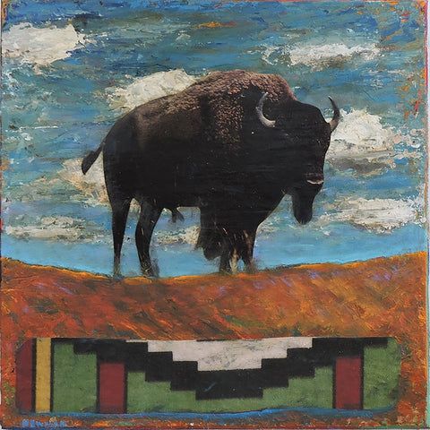 King of the Hill - Acrylic /Mixed Media Collage by artist Dave Newman