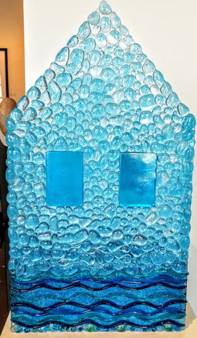 Beach House -  Glass by artist Constance Patterson