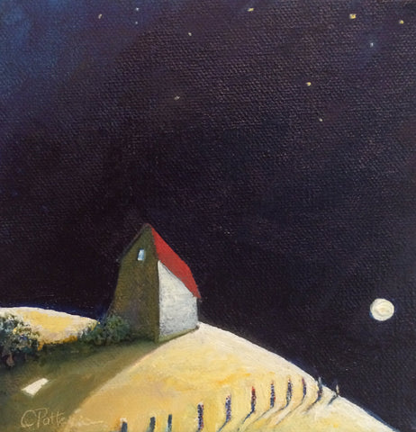 ALL ALONE IN THE MOONLIGHT - Oil Paintings by artist Constance Patterson