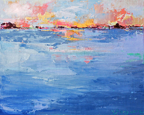 High Sky - Cold Wax & Oil Paintings by artist Melanie Ferguson Art