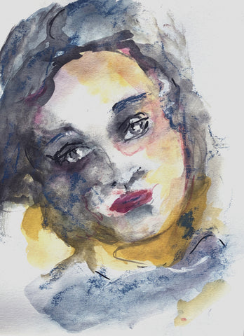 Remembering - watercolor on paper Paintings by artist Sharon Sieben