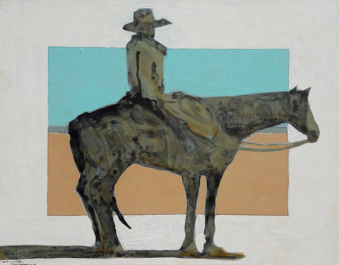 Lone Ranger View - 1764 - Acrylic /Mixed Media Paintings by artist Michael Swearngin