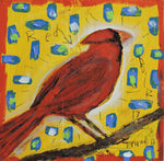 Red Bird -  Paintings by artist Frank Discussion