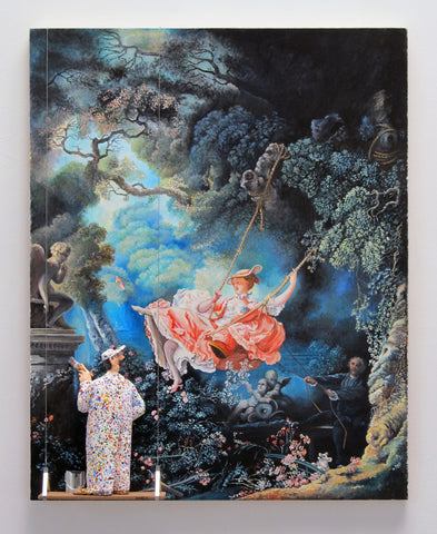 The Swing (Jean-Honore Fragonard) - Acrylic/Paper Mache' Paintings by artist Stephen Hansen