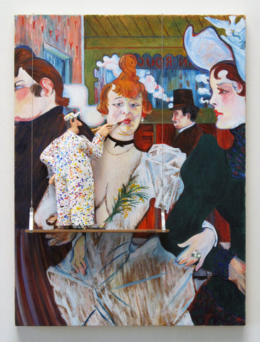 La Goulue (Toulouse-Lautrec) - Acrylic/Paper Mache' Paintings by artist Stephen Hansen