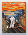 The Scream (Munch) - Acrylic/Paper Mache' Paintings by artist Stephen Hansen