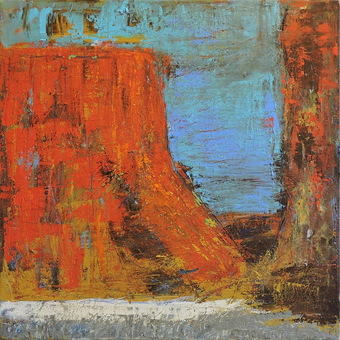 Big Mesa - Acrylic Collage by artist Dave Newman