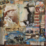 The West - Acrylic /Mixed Media Collage by artist Dave Newman