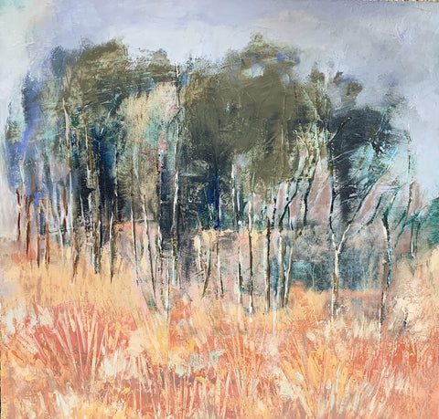 Mountain Meadow - Oil/Mixed Media Paintings by artist Melanie Ferguson Art