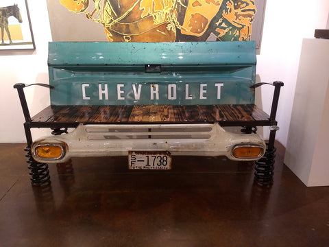 '59 Chevy Tailgate Bench - Truck and auto parts Artistic Furniture by artist Anthony Donno