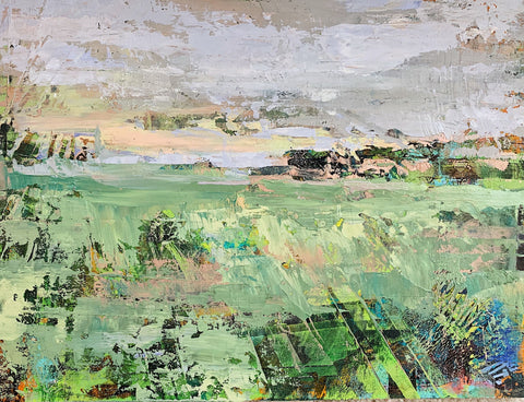 Plowed Fields - Cold Wax & Oil Paintings by artist Melanie Ferguson Art