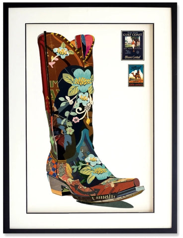 Cowgirl Boot -  Collage by artist Leonardo Studios