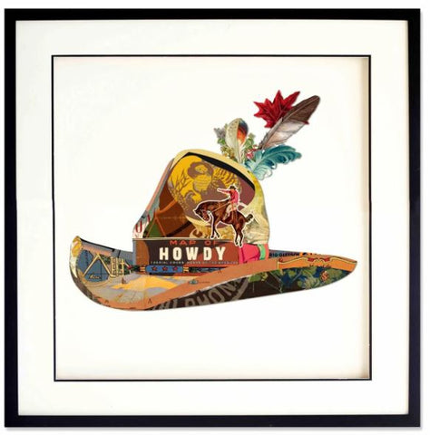 Howdy - Handcrafted Collage Edition Collage by artist Leonardo Studios