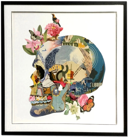 Skull - Handcrafted Collage Edition Collage by artist Leonardo Studios