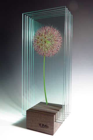 Rise Up - Glass sculpture Glass by artist Ana Maria Botero