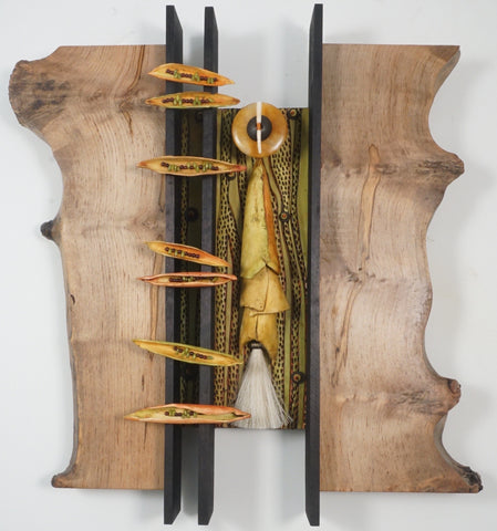 Woodland Harmonies 20043 - Wood/Mixed Media Sculpture by artist Vicki Grant