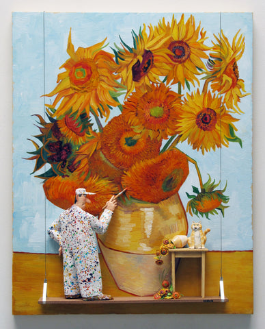 Sunflowers, Third Version (Van Gogh) -  Paintings by artist Stephen Hansen