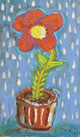 Flower and Pot #63 - Acrylic Paintings by artist Frank Discussion