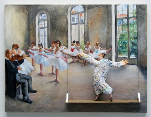 The Rehearsal, 1873 (Degas) - Acrylic/Paper Mache' Paintings by artist Stephen Hansen