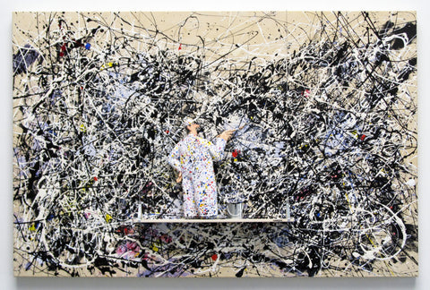 Number 1A, 1948 (Pollock) - Acrylic/Paper Mache' Paintings by artist Stephen Hansen