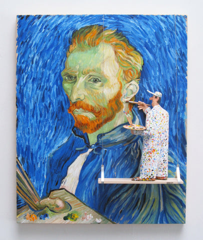 Self-Portrait with Palette, 1889 (Van Gogh) -  Paintings by artist Stephen Hansen