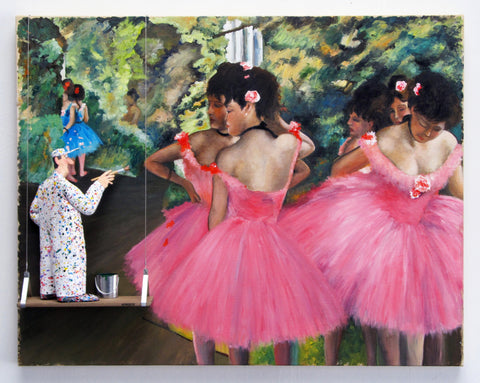 Dancers in Pink, 1880-85 (Degas) - Acrylic/Paper Mache' Paintings by artist Stephen Hansen