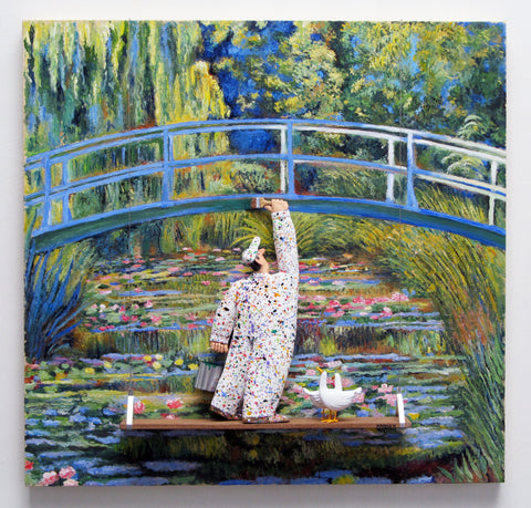 The Water Lily Pond, 1899 (Monet) -  Paintings by artist Stephen Hansen
