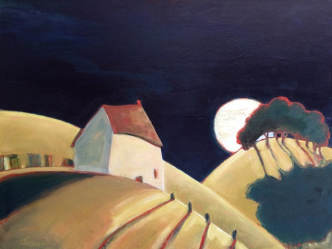 COTSWOLD MOON - Oil Paintings by artist Constance Patterson