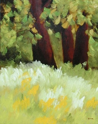 Three Redwoods - Oil Paintings by artist Melinda Fellini